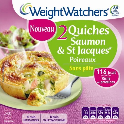 Quiche saumon weight