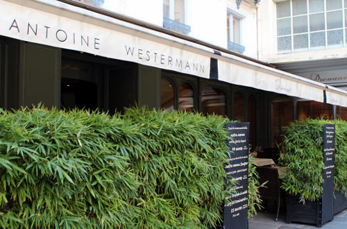 Drouant, restaurant place gaillon. La terrasse