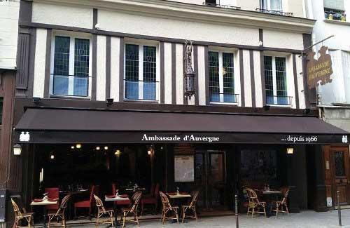Ambassade d'Auvergne, la terrasse du restaurant