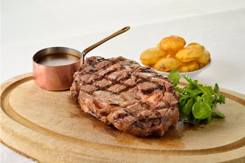 boeuf couronne entrecote grillee